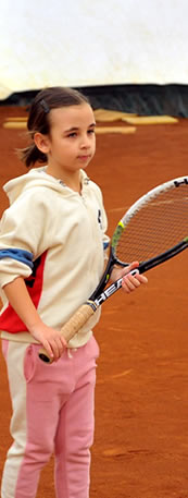 Tennis class for 4-7 years old children